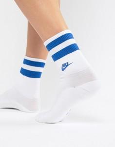 Бело-синие носки с логотипом Nike - Белый