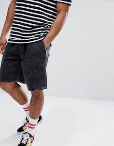 Черные джинсовые шорты с эффектом кислотной стирки Cheap Monday - Черный