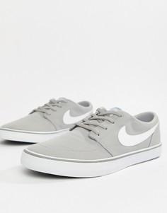 Серые кроссовки Nike SB Solarsoft Portmore II 880268-011 - Серый