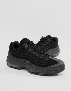 Черные премиум-кроссовки Nike Air Max 95 Ultra AO2438-002 - Черный