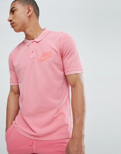 Розовое выбеленное поло Nike 886491-823 - Розовый