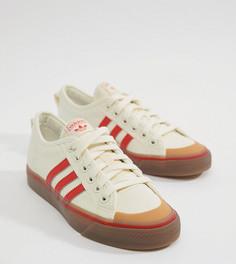 Бело-красные парусиновые кроссовки adidas Originals Nizza - Черный