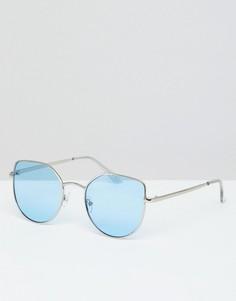 Солнцезащитные очки кошачий глаз с затемненными стеклами 7X - Синий