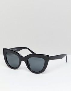 Классические солнцезащитные очки кошачий глаз 7X - Черный