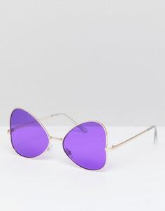 Солнцезащитные очки-авиаторы 7X - Фиолетовый