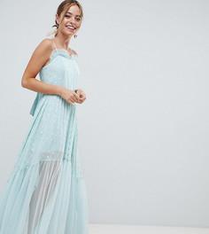Платье макси с эффектом металлик ASOS DESIGN Petite - Мульти