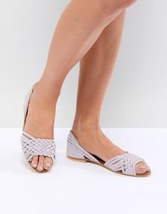 Летние замшевые туфли ASOS DESIGN Juna - Фиолетовый