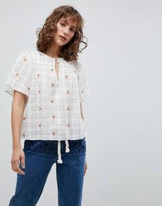 Блузка с расклешенными рукавами Vanessa Bruno - Кремовый