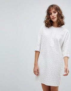 Платье А-силуэта с вышивкой ришелье Vanessa Bruno - Белый