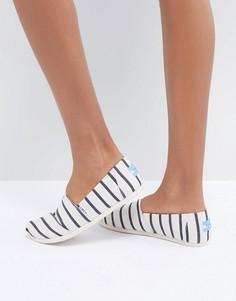 Парусиновые туфли в полоску TOMS Alpargata - Мульти