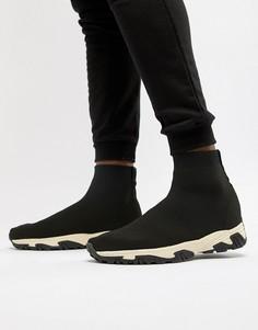 Черные кроссовки на массивной подошве ASOS DESIGN - Черный