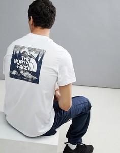 Белая футболка с логотипом на спине The North Face Redbox Celebration - Белый