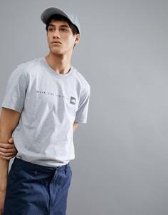 Серая меланжевая футболка с принтом Never Stop ExplorIng The North Face - Серый
