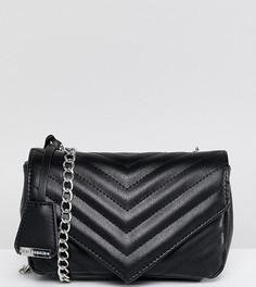 Черная стеганая сумка через плечо Glamorous - Черный