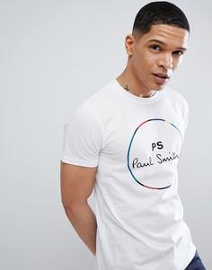 Белая футболка узкого кроя с логотипом PS Paul Smith - Белый