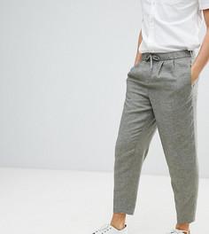 Широкие брюки из ткани на основе льна Heart & Dagger - Зеленый