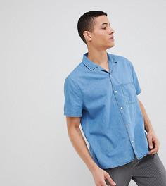 Джинсовая рубашка с короткими рукавами и отложным воротником Noak - Синий