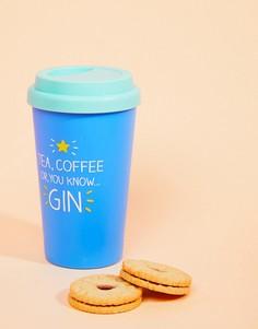 Дорожная чашка с принтом Gin Happy Jackson - Мульти