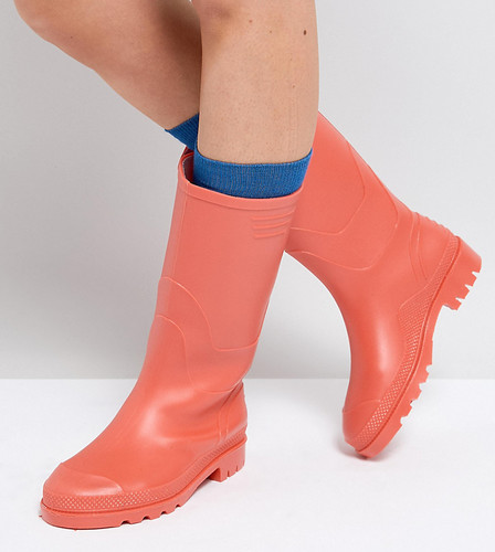 Высокие резиновые сапоги в винтажном стиле Juju - Оранжевый