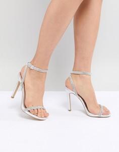 Легкие босоножки на высоком каблуке New Look - Серебряный