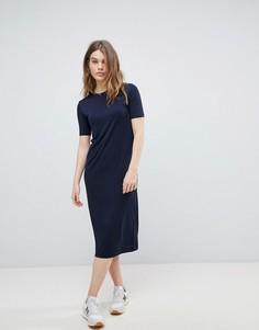 Платье миди Weekday - Темно-синий