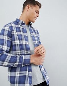 Темно-синяя рубашка в клетку Abercrombie & Fitch - Темно-синий