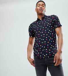 Рубашка в горошек с короткими рукавами Reclaimed Vintage Inspired - Черный