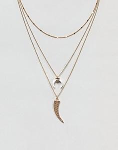 Золотистое ярусное ожерелье с месяцем Orelia - Золотой