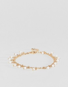 Элегантный браслет с подвесками-жемчужинами ASOS DESIGN - Золотой