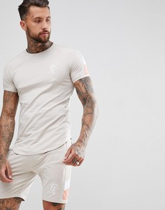 Бежевая футболка в стиле ретро Gym King - Бежевый