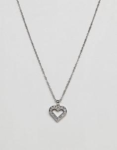 Серебристое ожерелье с сердцем-подвеской Ted Baker - Серебряный