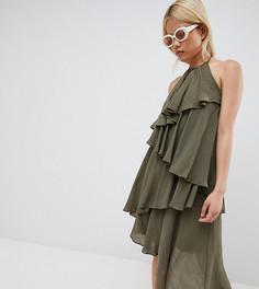 Платье с оборками Vero Moda Petite - Зеленый
