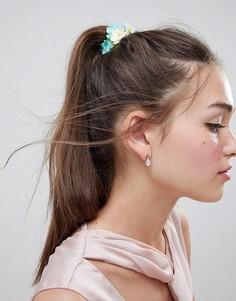 Резинка для волос с цветочным принтом ASOS DESIGN - Мульти