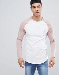 Белая обтягивающая футболка с рукавами реглан River Island - Белый