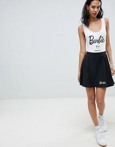 Плиссированная мини-юбка Missguided Barbie - Черный