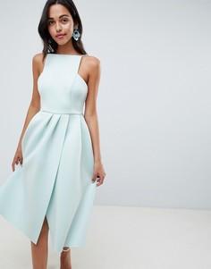 Платье для выпускного с открытой спиной ASOS DESIGN - Синий