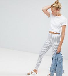 Облегающие брюки в тонкую полоску ASOS DESIGN Tall - Белый