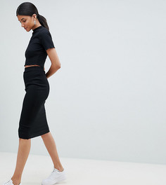 Юбка миди в рубчик Missguided Tall - Черный