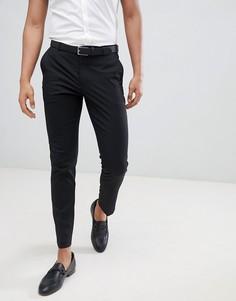 Черные брюки зауженного кроя Burton Menswear - Черный