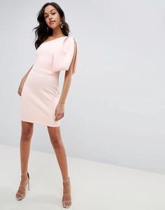 Платье мини с открытой молнией ASOS DESIGN - Розовый