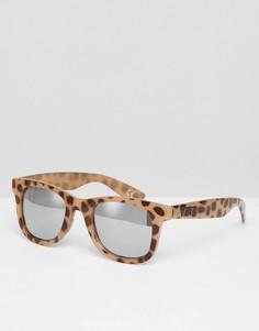 Солнцезащитные очки в оправе с леопардовым принтом Vans Janelle - Мульти