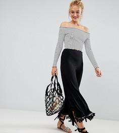 Укороченные широкие брюки с крупными кисточками ASOS DESIGN Tall - Черный