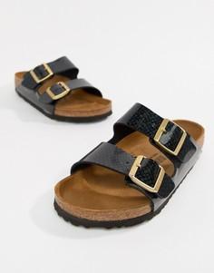 Черные сандалии с принтом Birkenstock Arizona - Черный