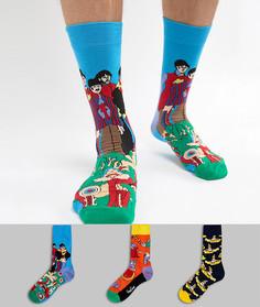 3 пары носков Happy Socks x The Beatles - Мульти
