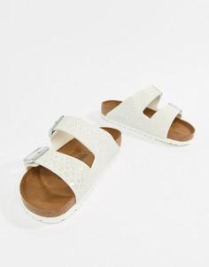 Белые сандалии с принтом Birkenstock Arizona - Белый