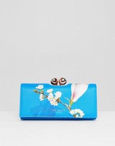 Фактурный кошелек с цветочным принтом Ted Baker - Синий