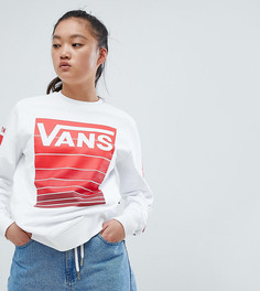 Эксклюзивный белый свитшот с круглым вырезом Vans - Белый