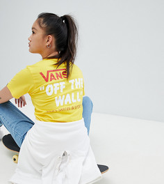 Желтая футболка Vans Sponsor Heritage - Желтый