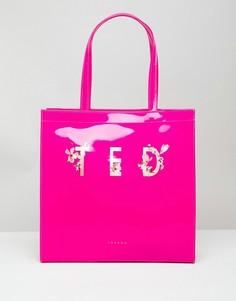 Сумка с цветочным принтом и логотипом Ted Baker - Розовый