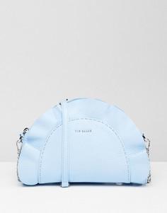 Кожаная сумка через плечо с рюшами Ted Baker - Синий